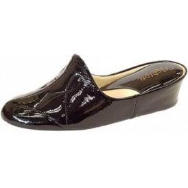 Dulcie 7312 Black Patent Ladies Slipper