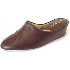 Natalia 7352 Wine Leather Ladies Slipper