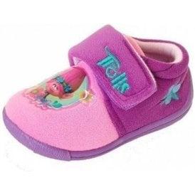 Trolls Pink Fabric Girls Slipper