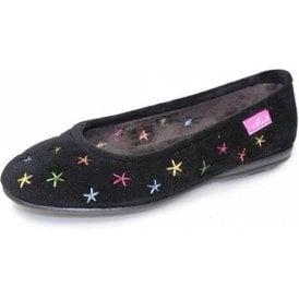 Cosmos KLA063 Black Full Slipper