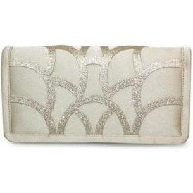 Dalia ZLR470 Champagne Grey Satin Handbag