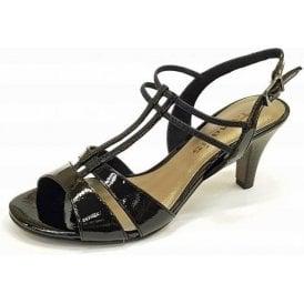 28304-20 Black Patent / Synthetic Sandal