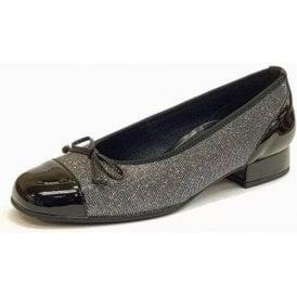 Emporium 86.102.19 Black Patent / Metallic Pump Shoe
