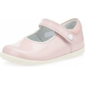 Nancy Pale Pink Patent Girl's First Walking Shoe
