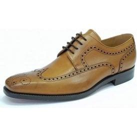 Larry Cedar Tan Leather Lace Up Brogue Shoe
