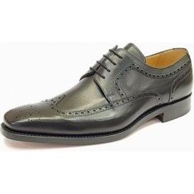Larry Black Leather Lace Up Brogue Shoe