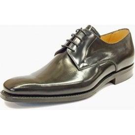 Lyle Black Leather Lace Up Shoe