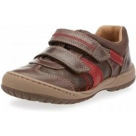 Flexy Tough Pre Brown Leather Boys Shoe