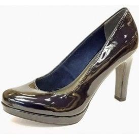 22426-20 Dark Navy Patent Court Shoe