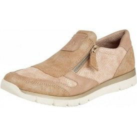 Marigold Rose Snake Print Zip-Up Shoes