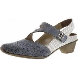 49770-14 Blue Jeans Leather Velcro Shoe