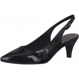 29601-20 Black Patent Sling Back Shoe