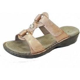 57268-88 Copper Velcro Mule Sandal
