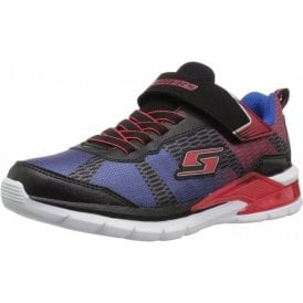 S Lights: Erupters II - Lava Waves Black / Red / Blue Boys Trainer