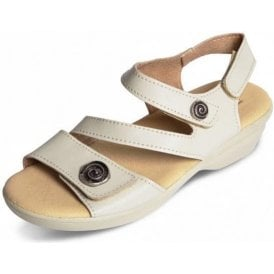 Madeira Beige Leather Sandal