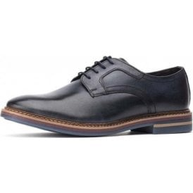 Spencer Washed Navy Leather Lace Shoe