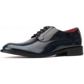 Bexley Hi-Shine Navy Leather Lace Shoe