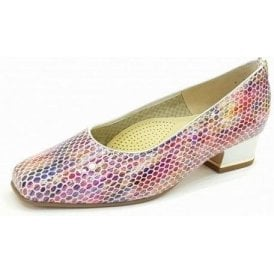 11859-22 Pink Multi Reptile Print Court Shoe