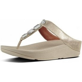 Roka Toe-Thong Silver Leather Sandal