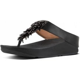 Rumba Toe Thong Black Ladies Sandal