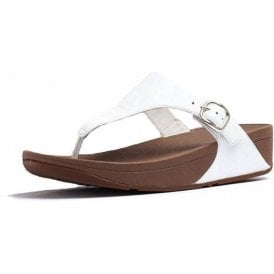 Skinny Toe Thong Urban White Leather Sandal