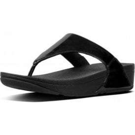 Lulu Toe-Thong Black Mirror Sandal