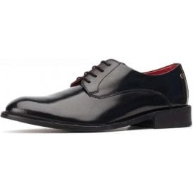 Bexley Hi-Shine Black Leather Lace Shoe