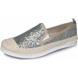 Tahiti FLH955 Silver Glitter Casual Shoe
