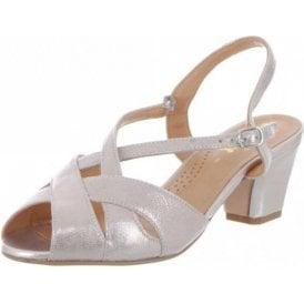 Libby II Bamboo Metallic Leather Sandal
