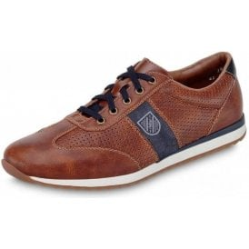 19325-25 Brown Synthetic Mens Lace Up Shoe