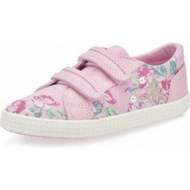 Edith 2 Pink Velcro Canvas Shoe