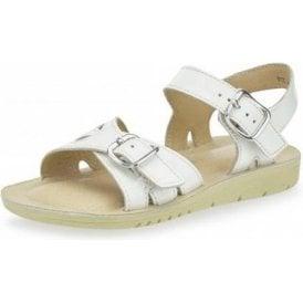 SR Soft Harper White Patent Girl's Sandal