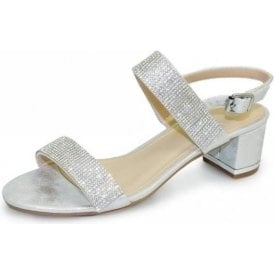 Murcia Silver Sandal with Diamante's