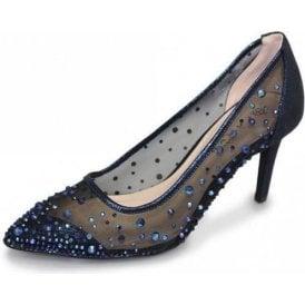 Argo FLR402 Navy Mesh Shoe with Gemstones