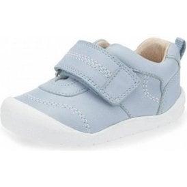 First Zak Blue Leather Boys Shoe