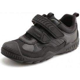 Extreme Pre Black Leather Boys School Shoe