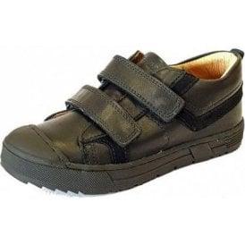 PSB 24247 Black Leather Boys Velcro Shoe