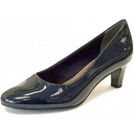22493-21 Navy Patent Court Shoe