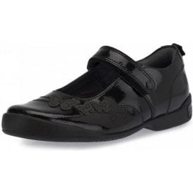 Pump Black Patent Girl's School Shoe