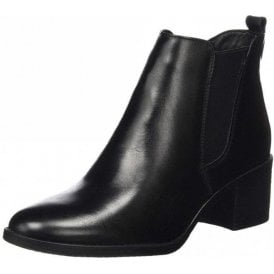 25043-21 Black Leather Ankle Boot