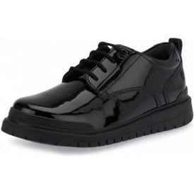 Force Black Patent Lace Up Shoe