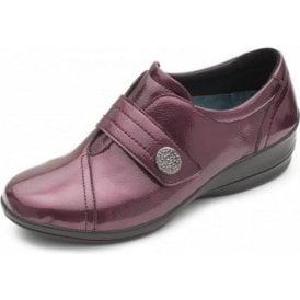 Simone 3 Wine Patent Velcro Shoe