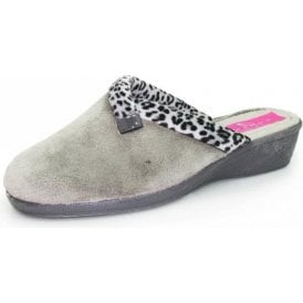 Michelle KLA007 Grey Wedged Mule Slipper