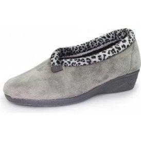 Paloma KLA005 Grey Wedged Full Slipper
