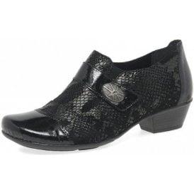 D7333-04 Black Patent / Leather Velcro Shoe
