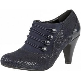 Dolley Navy Print Shoe-Boots
