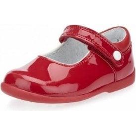 Nancy Red Patent Girl's First Walking Shoe