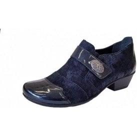 D7333-16 Navy Patent / Leather Velcro Shoe