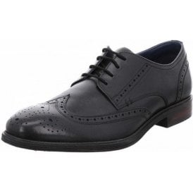 Jonathan 05 Black Leather Brogue Lace Up Shoe