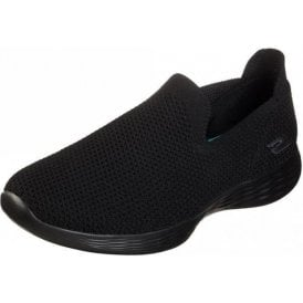 YOU Define - Zen Black Knit Fabric Training Shoes